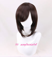 May Sapphire Short Dark Brown Cosplay Wig +a wig cap