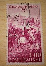 POSTE ITALIANE GUERRA DELL'INDIPENDENZA 1959 - L.110 - 1959 VIAGGIATO