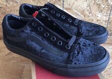 Vans Old Skool Velvet Black Black Sz Men's 8 / Women's 9.5 NIB