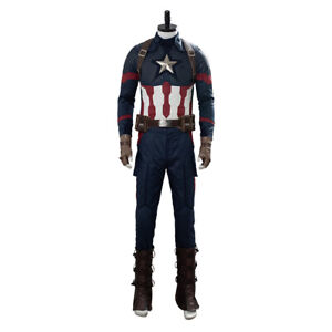 Avengers 4 Endgame Captain America Costume Cosplay Steven Rogers Suit Uniform
