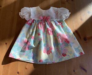 Jo Lene Girls 24M/XL Multi Color Floral Lace Color USA Vintage