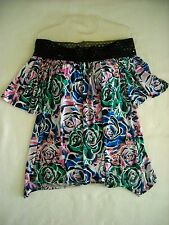 """"""" SIMPLY IRRESISTIBLE """" WOMENS PRETTY OFF SHOULDER FLORAL PRINT TOP SIZE LARGE"""
