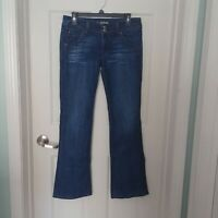 Hudson Boot Cut Jeans Flap Pockets Size:30 Distressed Medium Wash Denim Blue EE