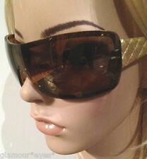 CHANEL Sunglasses AUTHENTIC 4155Q CH4155Q Gold Black Case Quilt Leather CC