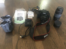 Canon EOS Rebel T3i / EOS 600D 18.0MP Digital SLR Camera - 3 Lenses + Camera bag