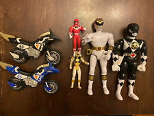 Lot Of 6 Mighty Morphin Power Rangers 90?s Toys White Tommy ThunderBike Mini