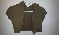 Brown short sleeved Arizona hoodie girls size S