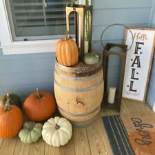 "NEW Pottery Barn Faux Pumpkin Lg  Cinderella 11.5"" Ivory Fall Orange 7.5"" Sm NWT"