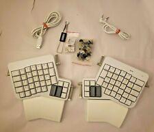 Ergodox EZ Glow Ergonomic Mechanical Keyboard White LIGHTS UP WORKS GREAT