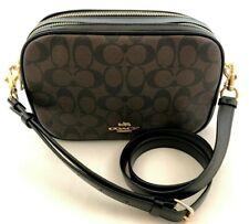 New Authentic Coach F68168 Signature Canvas Jes Crossbody Handbag Purse Brown