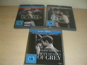 Fifty Shades of Gray  1-3 Blue Ray HD Top Zustand