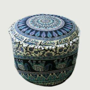 Pouffe Medallion Mandala Throw Round Floor Cushion Day Bed Bean Bag Cover