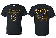 Kobe Bryant T shirt black mamba T-shirt Tee