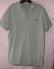 AMERICAN EAGLE XL GRAY POLO SHIRT RIBBED Collar X CONDITION PRO CLEANED