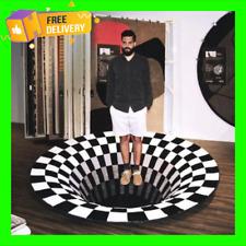 3D printed Round Vortex Illusion Anti-slip Living room Rug Carpet Floor