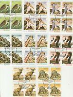 4er Blocks Wildtiere Mosambik gestempelt