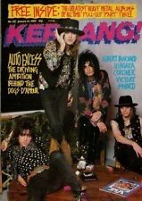 Dogs D'Amour on Kerrang Cover 1989      Albert Bouchard
