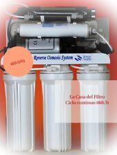 Depuratore Acqua Osmosi Inversa 400 GPD flusso Diretto Con UV 6w - 8 Stadi