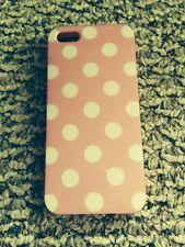 Pink Case with White Polka Dots for Apple iPhone 5