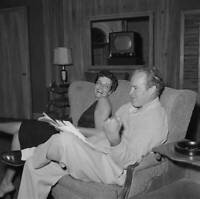 American Actress Jane Russell With Actor And Comedian Bob Hope During OLD PHOTO