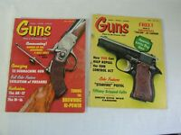 Lot of 2 issues 1968-70 GUNS Magazines Firearm Enthusiast Collector AK47 MM65