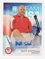 2016 Topps USA Olympic Team Autograph #10 Matt Stutzman Archery Medalist