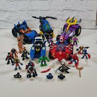 Fisher Price Imaginext Figures And Vehicles Bundle Batman Spiderman Hulk