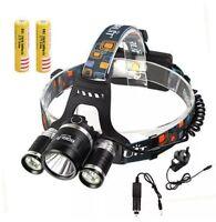 8000LM 3x XML T6+2 R5 LED Head Headlight Headlamp Torch Bright Dark UK SELLR NEW