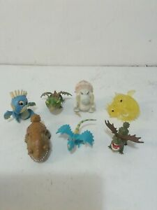 Rare how to train your dragon mini figures bundle x 7