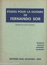 Etudes pour la guitare de Fernando Sor José de Valencia Beuscher 1966 F-GB-E-D