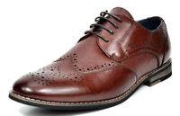 Bruno Marc Men's Classic Brogue Dress Shoes Leather Lined Wing Tip Formal Oxford