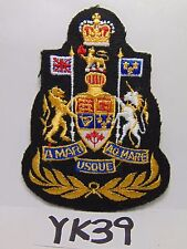 "VINTAGE EMBROIDERED PATCH CANADA MOTTO ""A MARI USQUE AD MARE""  FROM SEA TO SEA"