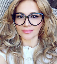Celebrity Love Large BLACK Cat Eye Pin Up Girl Retro Geek Big Eyeglasses Frames