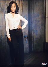 """SCANDAL KERRY WASHINGTON AUTOGRAPHED 11"""" x 14"""" PHOTOGRAPH PSA DNA Z36773"""