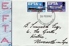 1967 Sg 715/6 EFTA First Day Cover with Newcastle Upon Tyne Cancellation
