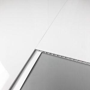 17 X Plain White Bathroom Wall & Ceiling Panels PVC Plastic Wall Cladding