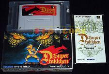 SUPER DRAKKHEN (Dragon View) Super Famicom SNES Vers Giapponese NTSC ○○ COMPLETO