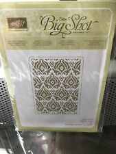 stampin up sizzix big shot beautifully baroque embossing folder