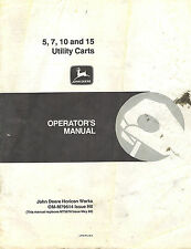 JOHN DEERE 5 7 10 15  UTILITY CART OPERATOR'S MANUAL