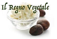 BURRO DI KARITE' PURO 100% 100 ml PROTETTIVO AMMORBIDENTE NUTRIENTE RIGENERANTE