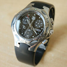 Authentic TAG HEUER Kirium Ti5 CL1181 Men's Quartz Watch Rubber Belt