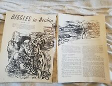 Biggles in Arabia - 1951 Book Print