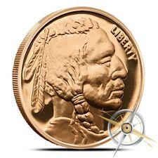 Beautiful 1 oz Buffalo Nickel Copper Art Round - BU Proof Like