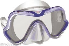 Mares One Vision Mask FreeDive Scuba Diving Dive White/Blue