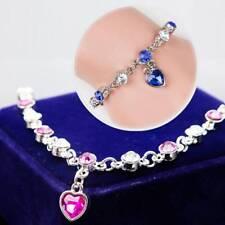 Fashion Imitation Rhinestone Mystic Love Heart Crystal Bracelet Jewelry Gifts