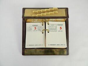 Vinbtage 1957 Desktop Daily Calendar/Planner with Address Storage
