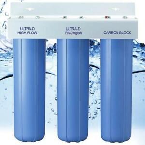AlkaViva Trident 3-Stage Whole House Filter Optimum Chlorine Removal