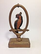 ANTIQUE PARROT BIRD CAST IRON B&H DOORSTOP BRADLEY & HUBBARD CIRCA 1920's
