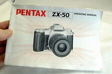 Pentax Camera ZX-50 Operating  Manual Guide Genuine (EN)  English