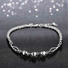 Herz Armband Engel Silber Flügel Anhänger Geschenk Armkette Schmuck Schutzengel
